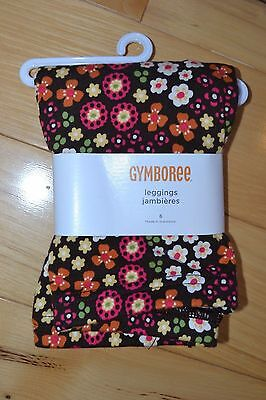 Gymboree fall for autumn new nwt 6 leggings brown floral pink orange girl pants