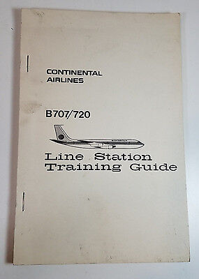 Vtg Continental Airlines Boeing 707/720 Line Station Training Guide