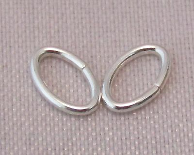 3.5x5.3 mm 925 Stirling Silver Oval Open Jump Rings For Jewellery Making/Repair