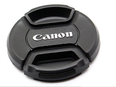 LC-58 Centre Pinch Front Lens Cap for canon  58mm filter thread Snap-on UK STOCK