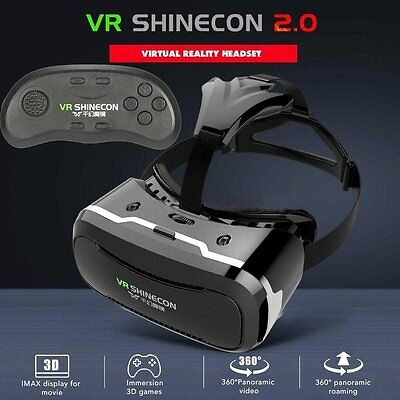3D VR BOX SHINECON 2.0 Virtual Reality Glasses Movie Game with Bluetooth Control