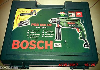 BOSCH PSB 650 RE electronic SCHLAGBOHRMASCHINE 650W; incl. Handgriff  (E00074)