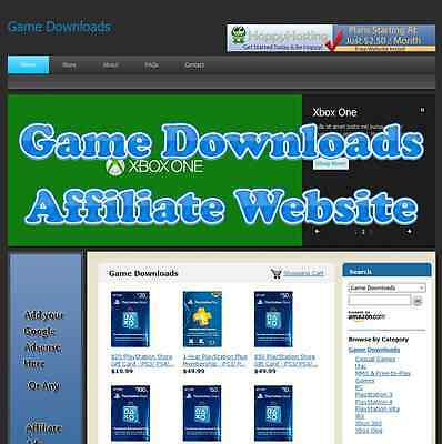 Automated Amazon Affiliate Game Downloads Website Business For Sale Adsense
