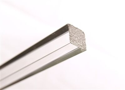 """1/4"""" Clear Extruded Acrylic Square Rod - 6' Long"""