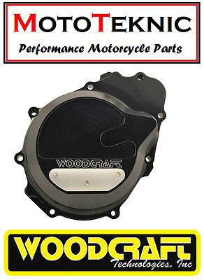 Woodcraft Billet Generator Left Engine Cover to fit Kawasaki ZX6R 636 2003-2004