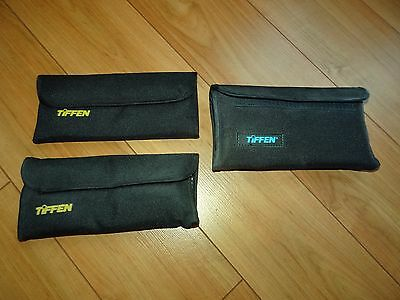 Lot of 3 Tiffen Filter Folding Pouch Cases, two for 4 filters, one for 6 filters