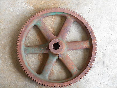 "Vintage Industrial Machine Age Cast 8 1/2"" Gear/Cog Steampunk Art Lamp Part"