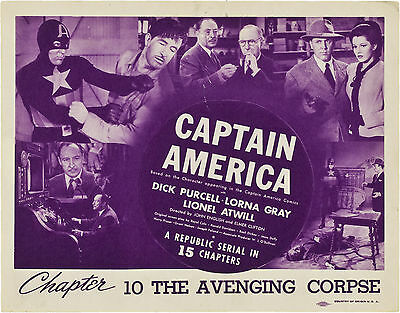 Captain America - Classic Movie Cliffhanger Serial DVD Dick Purcell  Lorna Gray