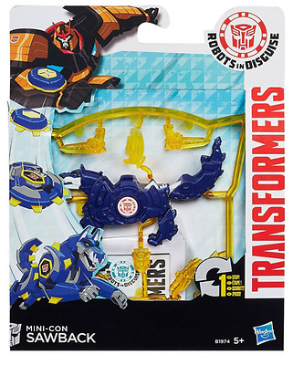 Transformers Robots In Disguise Mini-Con Minicon Sawback  Hasbro B1971 New Sale