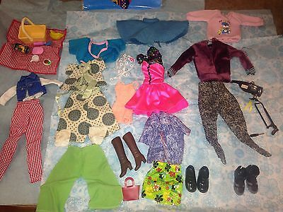 40 Piece Lot of Barbie and Ken Doll Clothes and Accessories