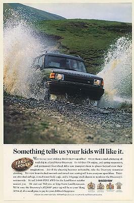 1997 Land Rover Discovery Driving Off-Road in Water Your Kids Will Like It Ad