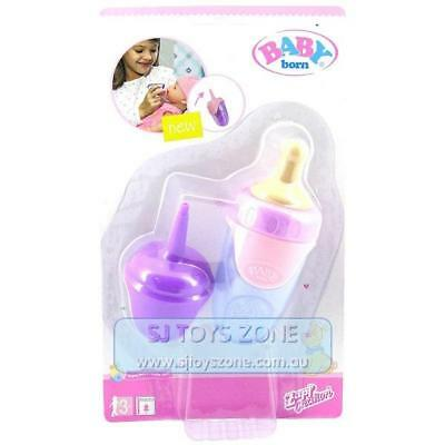 Baby Born Doll Bottle with 2 Lids Assorted Color Pink, Blue and Purple Kids Toy