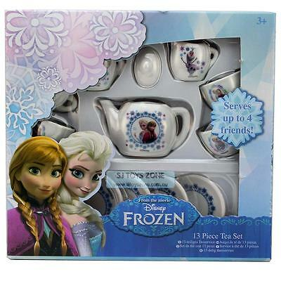 Disney Frozen Girls 13 pcs Porcelain Tea Set Tea Party Pretend Play Activity Toy