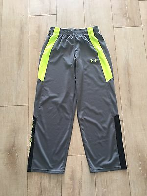 Boys Youth Under Armour Loose Fit Pants Size XL Gray