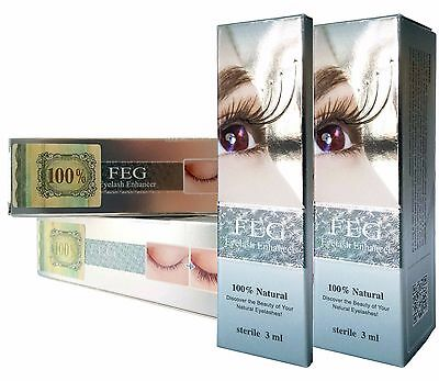 FEG (2PACK) Eyelash Enhancer & Rapid Growth Serum - 100% Natural 3ml AUTHENTIC