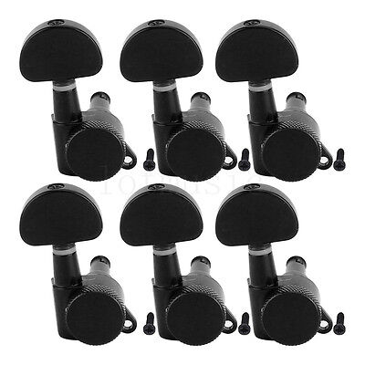 Guitar Locking Tuners Tuning Pegs Keys Machine Heads for Acoustic Parts Black 6R