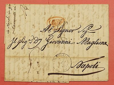1850 Italy Stampless F/l To Napoli