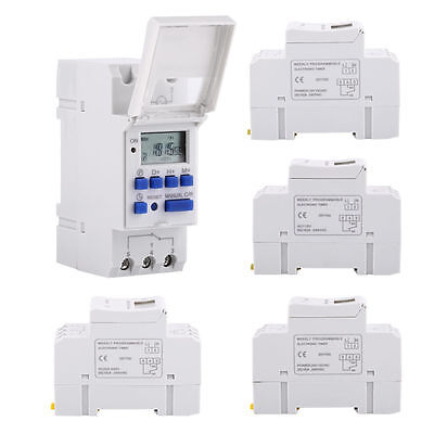 DIN Rail Mounting Digital LCD Programmable Timer AHC15A Time Model Relay Switch