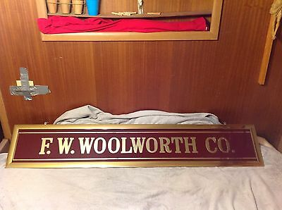 F.w.  Woolworth    1920. Reverse Painted Glass Store  Window Sign