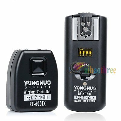 YONGNUO RF-602/C 2.4GHz Wireless Remote Flash Trigger+Receiver For Canon Camera