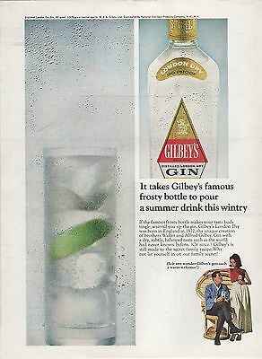 vintage 1965 Gilbey's Gin magazine ad