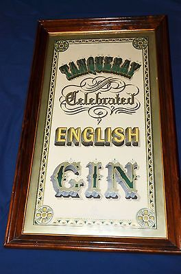 "Vintage Framed ""tanqueray Celebrated English Gin Sign"" - Great Display Item!"
