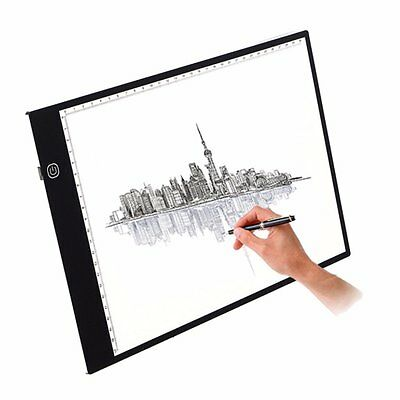 LED Copy Board, M.Way A2/A3/A4 Super Thin LED Drawing Copy Tracing Light Box Tra