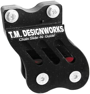 Rear Chain Guide and Dual Powerlip Roller Black TM Design Works RCG-002-BK