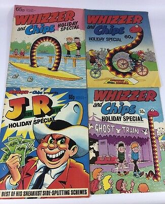 Lot #76 Whizzer And Chips Holiday Special Bundle X 4 Mid 84 85 86 Junior Rotter