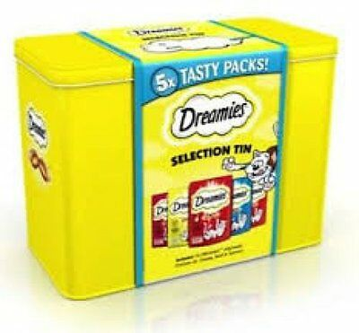 Dreamies Cat Treats Limited Edition Selection Tin Inc 5x 60g Packs BBD 12/2017!