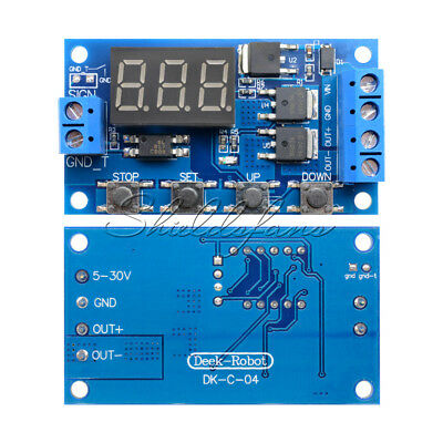 12V 24V Trigger Cycle Timer Delay Switch Circuit Board MOS Tube Control Module