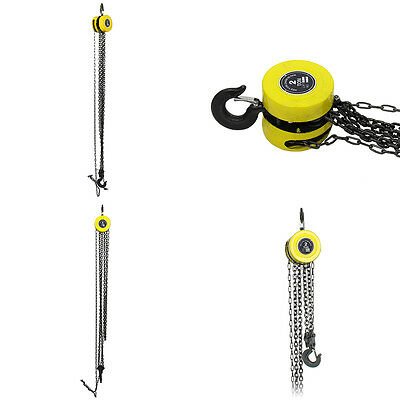 Heavy Duty Chain Hoist Load Lifting Block Tackle Engine Winch Pulley Tool 2 Ton