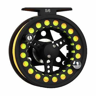 1/2 3/4 5/6 7/8WT Large Arbor Aluminum Fly Fishing Reel  Fly Line Backing Leader