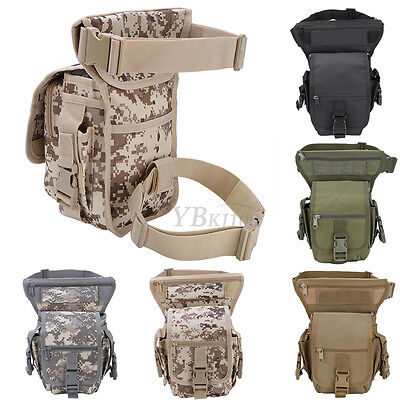 Outdoor Military Tactics Oxford Waist Leg Pack Camping Motorcycle Tourist Bag