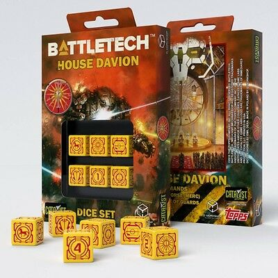 Q-Workshop BattleTech House Davion D6 Dice set (6) | Würfel, W6