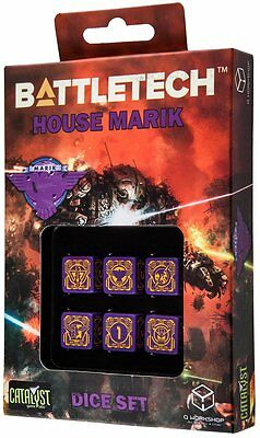 Q-Workshop BattleTech House Marik D6 Dice set (6) | Würfel, W6