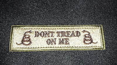 New Dont Tread On Me Tan Brown Patch Hook Tactical Morale Australian Seller