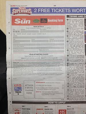 The Sun Shrek Adventure/london Dungeon Booking Form Only