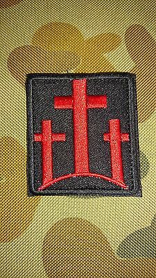 New Christ 3 Three Crosses Red Tactical Morale Army Hook Patch Australian Seller