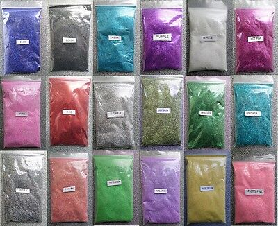 100g Pack Fine Glitter - Choose From 18 Colours - For Nail Art, Arts & Crafts