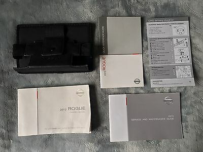 2012 Nissan Rogue Owners Manual Set w/Nissan Case-Fast Free Shipping!