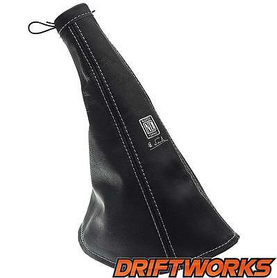 Nardi Handbrake Gaiter in black leather -
