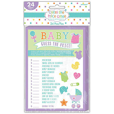 24 Piece New Baby Shower Celebration Party Guess The Right Price Game