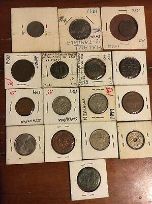 Set Of Old Coins From All Over