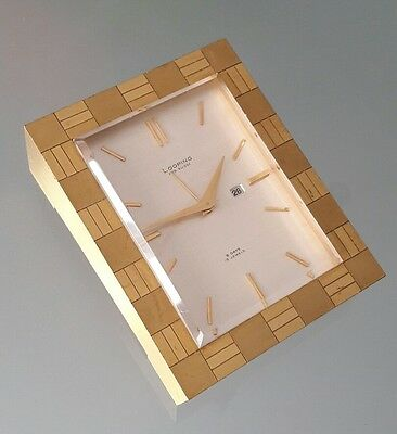 Montre réveil pendule de table LOOPING Fab. SUISSE 8 JOURS 15 Jewels 496gr.