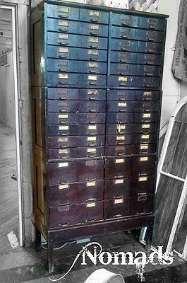 Antique Early Large Old Apothecary Optometrist Cupboard Cabinet Lots of Drawers