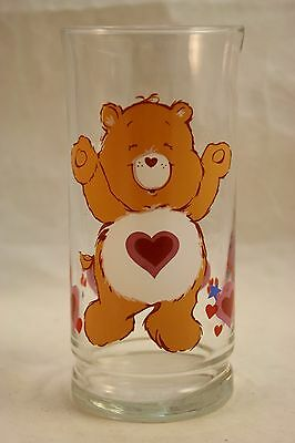 Vtg LIBBEY Tenderheart Bear Care Bears Pizza Hut Collectible Glass Valentine Day