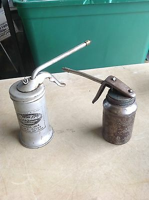 VINTAGE Eagle Brookins & Brevettato PISTOL TRIGGER SQUIRT OIL CANs Oil Gas Decor