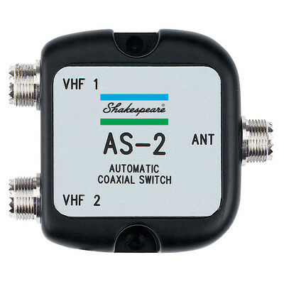Shakespeare As-2 Automatic Coaxial Switch 1 Ant 2 Radios [As-2]