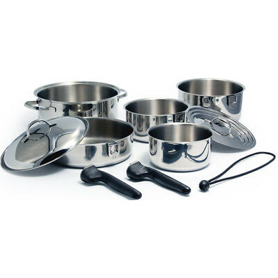 Kuuma 10-Piece Stainless Steel Nesting Cookware Set - Induction Compa... [58371]